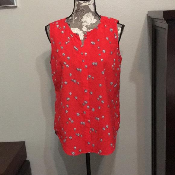 3557dfc1e93525 jasmine   juliana Tops - 🌼🌸🌺Jasmine   Juliana red pattern sleeveless top